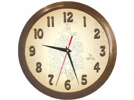 Часы настенные Вега П 1-9/7-50 бежевый часы настенные вега п 4 14 7 86 новогодние подарки