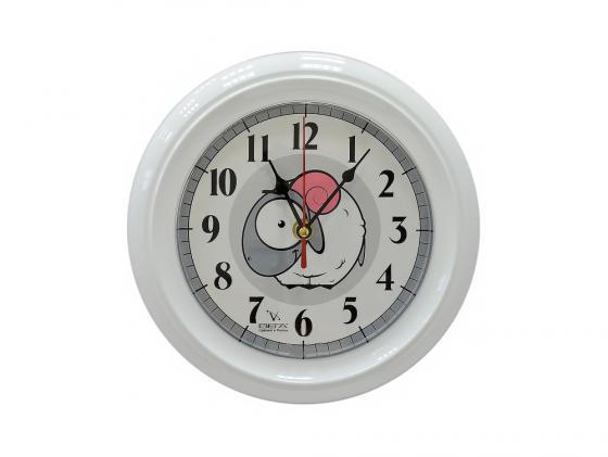 Часы настенные Вега П 6-7-107 Сова серый рисунок вега вега п 6 7 7