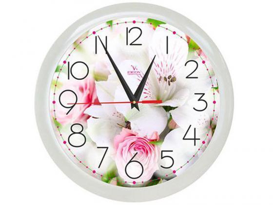Часы ВЕГА П 1-7/7-211 Цветы белый букет вега вега п 6 7 7