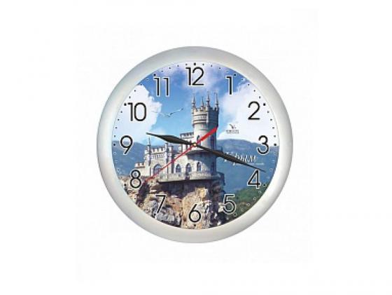 Часы настенные Вега Крым. Ласточкино гнездо П 1-серебро/7-221 серебристый часы настенные вега п 4 14 7 86 новогодние подарки