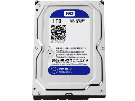 Жесткий диск 3.5 1 Tb 5400rpm 64Mb cache Western Digital Blue WD10EZRZ жесткий диск 3 5 8 tb 5400rpm 128mb cache western digital purple sataiii wd80purz