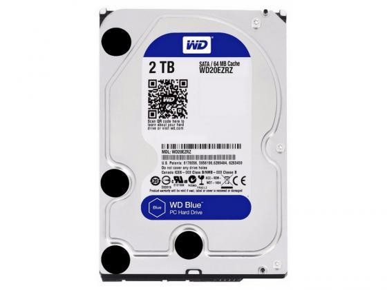 Жесткий диск 3.5 2 Tb 5400rpm 64Mb cache Western Digital Blue SATAIII WD20EZRZ видеофильмы