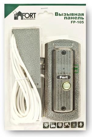 Вызывная панель CMOS для видеодомофонов FORT Automatics FP-105 муляж камеры видеонаблюдения fort automatics dc 027 наружное исполнение красный светодиод ret фиоле