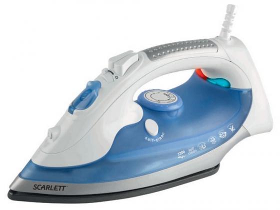 Утюг Scarlett SC-SI30E02 2400Вт бело-голубой утюг smile si 1813 2000 вт бело сиреневый