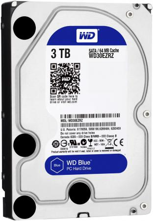 Жесткий диск 3.5 3 Tb 5400rpm 64Mb cache Western Digital Caviar Blue SATAIII WD30EZRZ 2000gb western digital wd20ezrz 64mb 5400rpm sata3 blue desktop