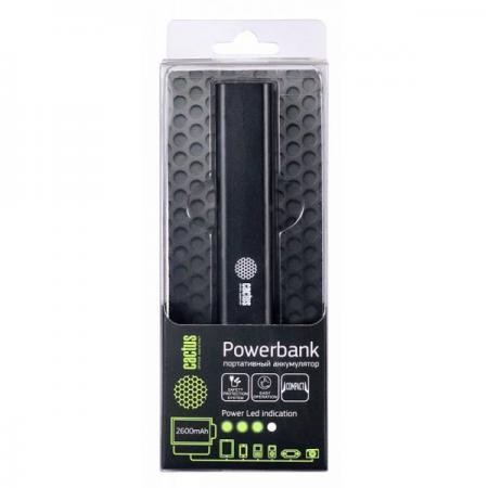 Портативное зарядное устройство Cactus CS-PBAS120-2600BK 2600мАч черный mac eng 6 fluency bk