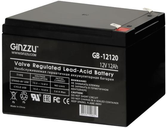 Батарея Ginzzu GB-12120 12V/12Ah серьги с подвесками jv серебряные серьги с ювелирным стеклом se0476 us 001 wg