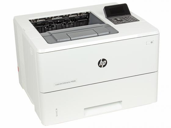 Принтер HP LaserJet Enterprise M506dn F2A69A ч/б A4 43ppm 1200x1200dpi 512Mb Duplex Ethernet USB цена