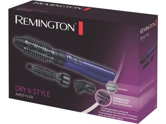Фен-щетка Remington AS 800 800Вт черно-синий фен щетка remington as8090 keratin therapy