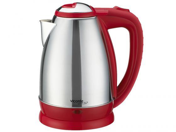 Чайник Viconte VC-3244 2000 Вт 2 л металл серебристый красный viconte vc 4408