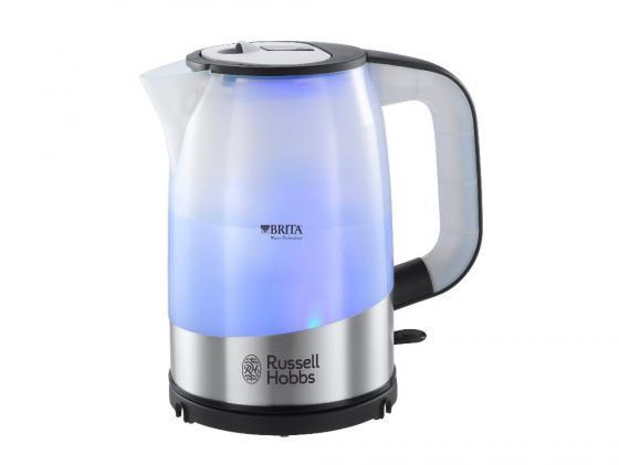 Чайник Russell Hobbs 18554-70 2200 Вт 1 л металл/пластик серебристый чайник russell hobbs 18944 70 2200 вт 1 7 л нержавеющая сталь серый