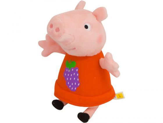 Мягкая игрушка свинка Peppa Pig Пеппа с виноградом 20 см розовый текстиль 29621 мягкая игрушка peppa pig джордж с машинкой свинка розовый текстиль 18 см 29620