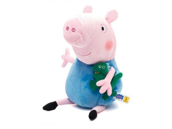Мягкая игрушка свинка Peppa Pig Джордж с динозавром 40 см розовый текстиль 29626 peppa pig playing football