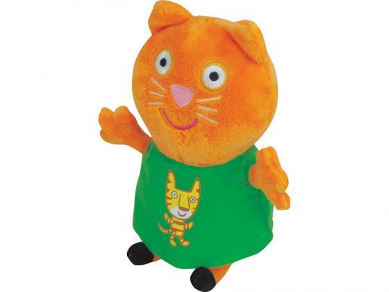 Мягкая игрушка кошка Peppa Pig Кенди с тигром 20 см оранжевый текстиль 29622 набор игровой peppa pig 10 см