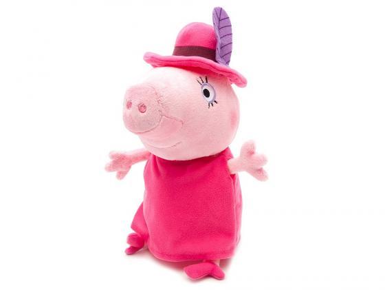 Мягкая игрушка свинка Peppa Pig Мама в шляпе 30 см розовый текстиль 29625 мягкая игрушка peppa pig джордж с машинкой свинка розовый текстиль 18 см 29620