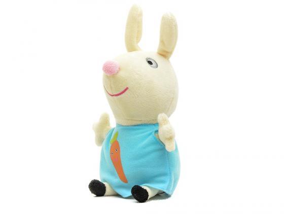 Мягкая игрушка кролик Peppa Pig Ребекка с морковкой 20 см текстиль 29624 набор игровой peppa pig 10 см