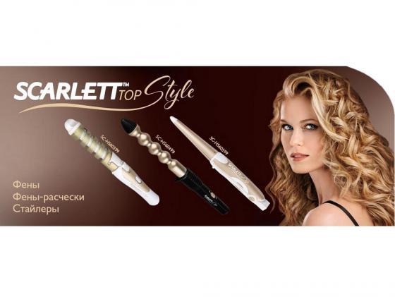 все цены на Щипцы для укладки волос Scarlett SC-HS60599 бело-золотистый онлайн