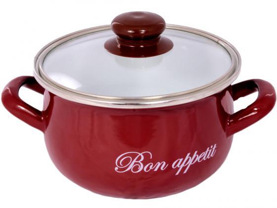 Кастрюля INTEROS 2234 21 см 4 л эмалированная сталь кастрюля interos 2234 bon appetit