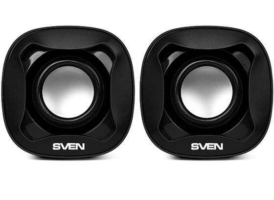 Колонки Sven 170 2x2.5 Вт черный sven sven 170 черный белый 2 0 mini jack пластик