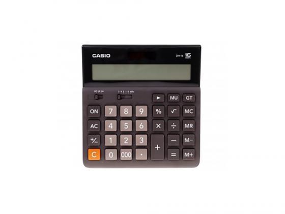 Калькулятор Casio DH-16-BK-S-EH 16-разрядный коричневый/черный калькулятор casio fx 220plus s eh