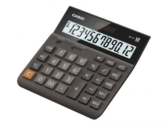 Калькулятор Casio DH-12-BK-S-EH 12-разрядный калькулятор casio dh 12 коричневый черный