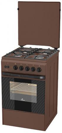 Газовая плита Flama FG 2426 B коричневый газовая плита flama fg 24210 b коричневый