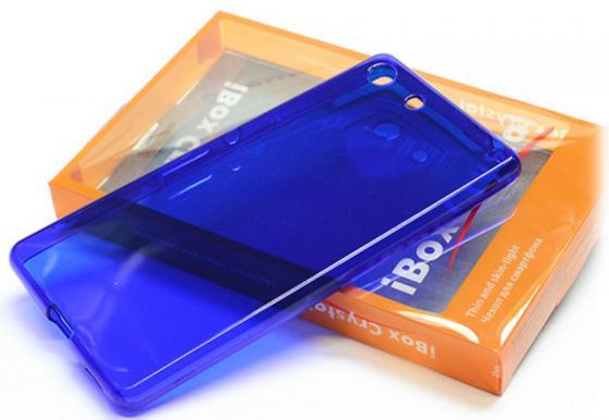 Чехол силикон iBox Crystal для Sony Xperia M5 синий стоимость