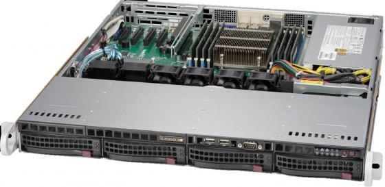 "лучшая цена Серверная платформа SuperMicro SYS-5018R-M 1U LGA2011 8xDDR4 4x2.5"" SATA 350 Вт"