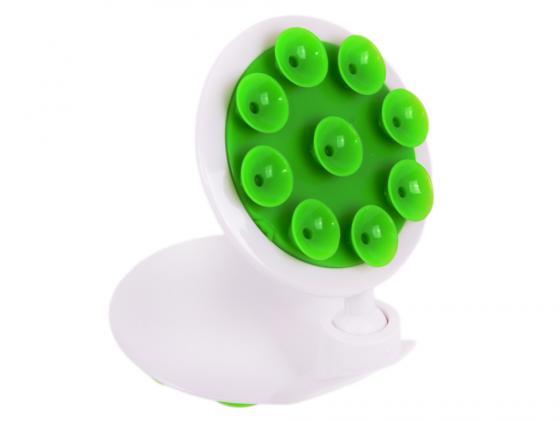Автомобильный держатель для телефона LP универсальный на присоске белый/зеленый 04222