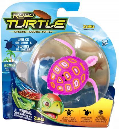 Интерактивная игрушка ZURU Робо-Черепашка от 4 лет розовый 25157E игрушка zuru robofish клоун с аквариумом yellow 2502
