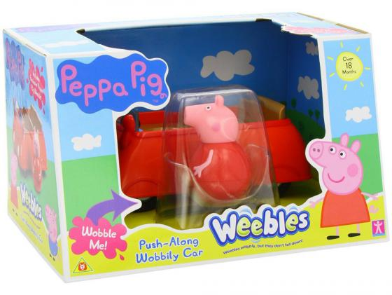 Игровой набор Peppa Pig Машина Пеппы - неваляшки (с фигуркой Пеппы) 28794 8 inch kawaii plush stuffed animal cartoon kids toys for girls children baby birthday christmas gift big ears rabbit metoo doll