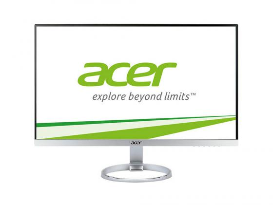 """Монитор 27"""" Acer H277Hsmidx серебристый черный IPS 1920x1080 250 cd/m^2 4 ms DisplayPort DVI HDMI Аудио UM.HH7EE.001 acer r231bmid 23 черный dvi hdmi full hd"""