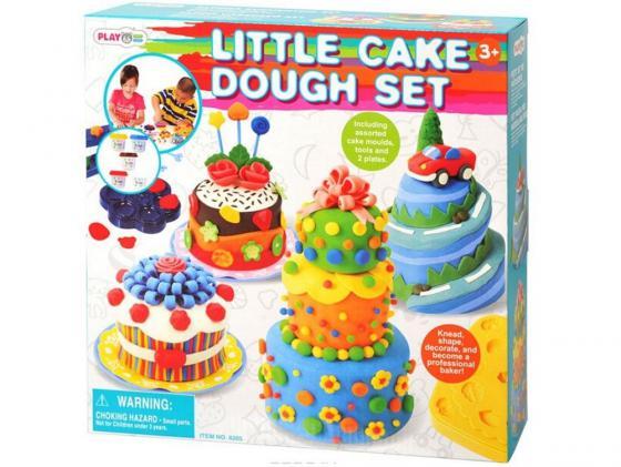 Набор для лепки Playgo Праздничный торт 8205 всё для лепки playgo набор с формами и инструментами