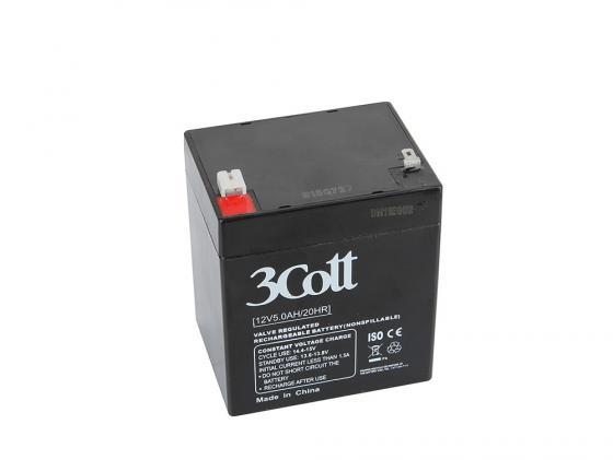 Батарея для ИБП 3Cott 12V5.0Ah аккумулятор для ибп 3cott 12v 18ah