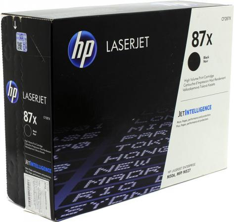 Картридж HP CF287X для HP LaserJet Enterprise M527c LaserJet Enterprise M506dn LaserJet Enterprise M506x LaserJet Enterprise M527dn LaserJet Enterprise M527f LaserJet Pro M501dn LaserJet Pro M501n 18000 Черный CF287X