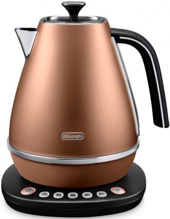 Чайник DeLonghi KBI 2011 CP 2000 Вт коричневый 1.7 л металл delonghi distinta kbi 2001 cp