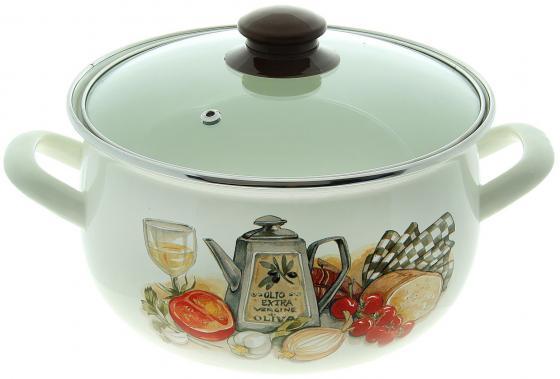 Фото - Кастрюля INTEROS Аппетит 22 см 5.1 л эмалированная сталь 15157 чайник interos 15157 аппетит 3 л металл белый рисунок