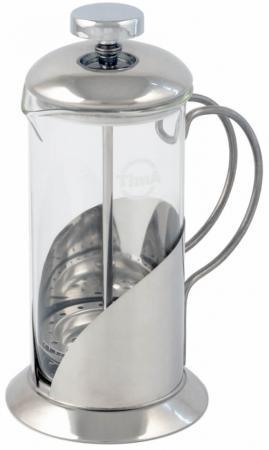 Френч-пресс Tima Тирамису FT-800 0.8 л металл/стекло серебристый френч пресс tima тирамису ft 800 серебристый 0 8 л металл стекло