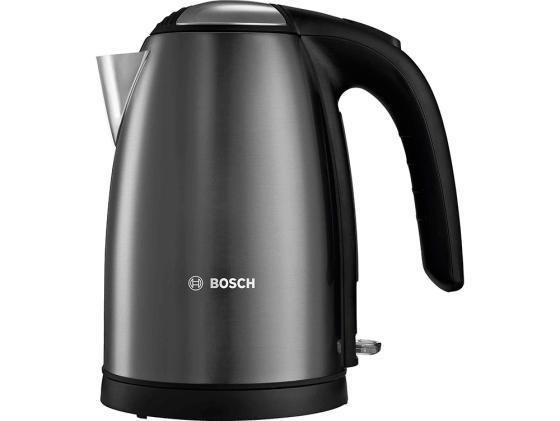 Чайник Bosch TWK7805 2200 Вт 1.7 л металл чёрный чайник bosch twk7603 3000 вт чёрный 1 7 л пластик