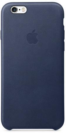 Чехол (клип-кейс) Apple Leather Case для iPhone 6 iPhone 6S синий MKXU2ZM/A клип кейс spigen cs apple iphone 6 6s mint