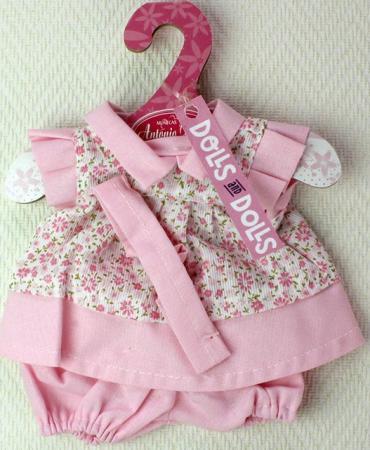 Платье для кукол Munecas Antonio Juan высотой 26см розовое в цветочек 0126