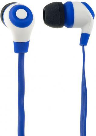 Наушники Perfeo RUBBER сине-черный PF-RUB-BLU/WHT цена