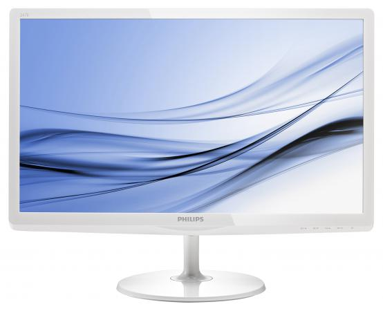 Монитор 23.6 Philips 247E6EDAW 00/01 белый IPS 1920x1080 250 cd/m^2 5 ms DVI HDMI VGA Аудио монитор philips 243v7qdab 00 01 черный ips 1920x1080 250 cd m^2 5 ms dvi hdmi vga аудио