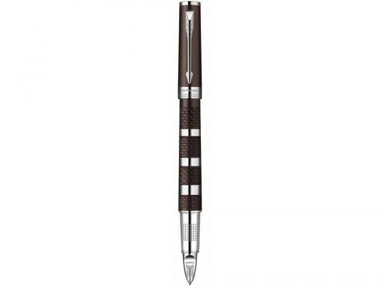Ручка 5й пишущий узел Parker Ingenuity L F501 чернила черные корпус коричнево-серебристый S0959180 maynard l parker