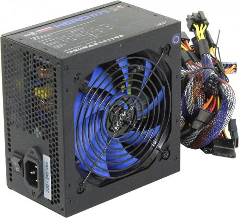 Фото - Блок питания ATX 675 Вт Aerocool Hero 675 блок питания accord atx 1000w gold acc 1000w 80g 80 gold 24 8 4 4pin apfc 140mm fan 7xsata rtl