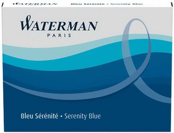 Картридж Waterman Standard Cartridge 8 шт синий S0110860 waterman картридж для ручки long цвет черный 8 шт