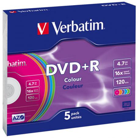 Диски DVD+R Verbatim 16x 4.7Gb Slim case 1шт 43556 verbatim dvd r оптом ua