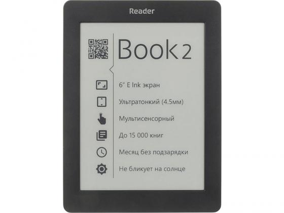 Электронная книга Reader Book 2 6 E-ink Pearl 800x600 256Mb 4Gb черный RB2-BK-RU