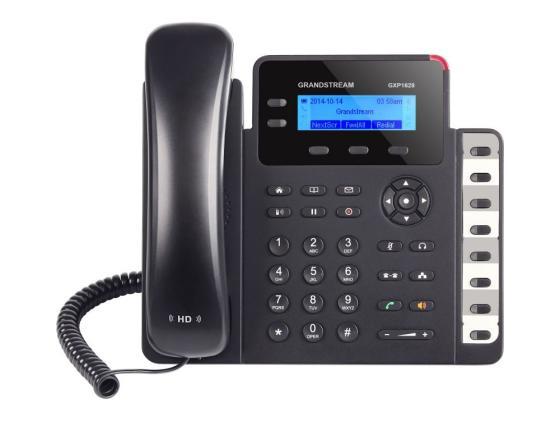 Телефон IP Grandstream GXP1628 2 линии 2 SIP-аккаунта 2x10/100/1000Mbps LCD PoE BLF телефон ip grandstream gxp1760 6 линий 3 sip аккаунта 2x10 100mbps lcd poe blf
