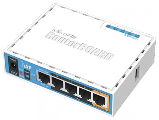 все цены на Беcпроводной маршрутизатор MikroTik hAP 802.11n 300Mbps 2.4ГГц 4xLAN RB951Ui-2nD онлайн